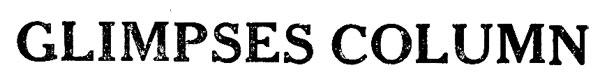 GLIMPSES COLUMN